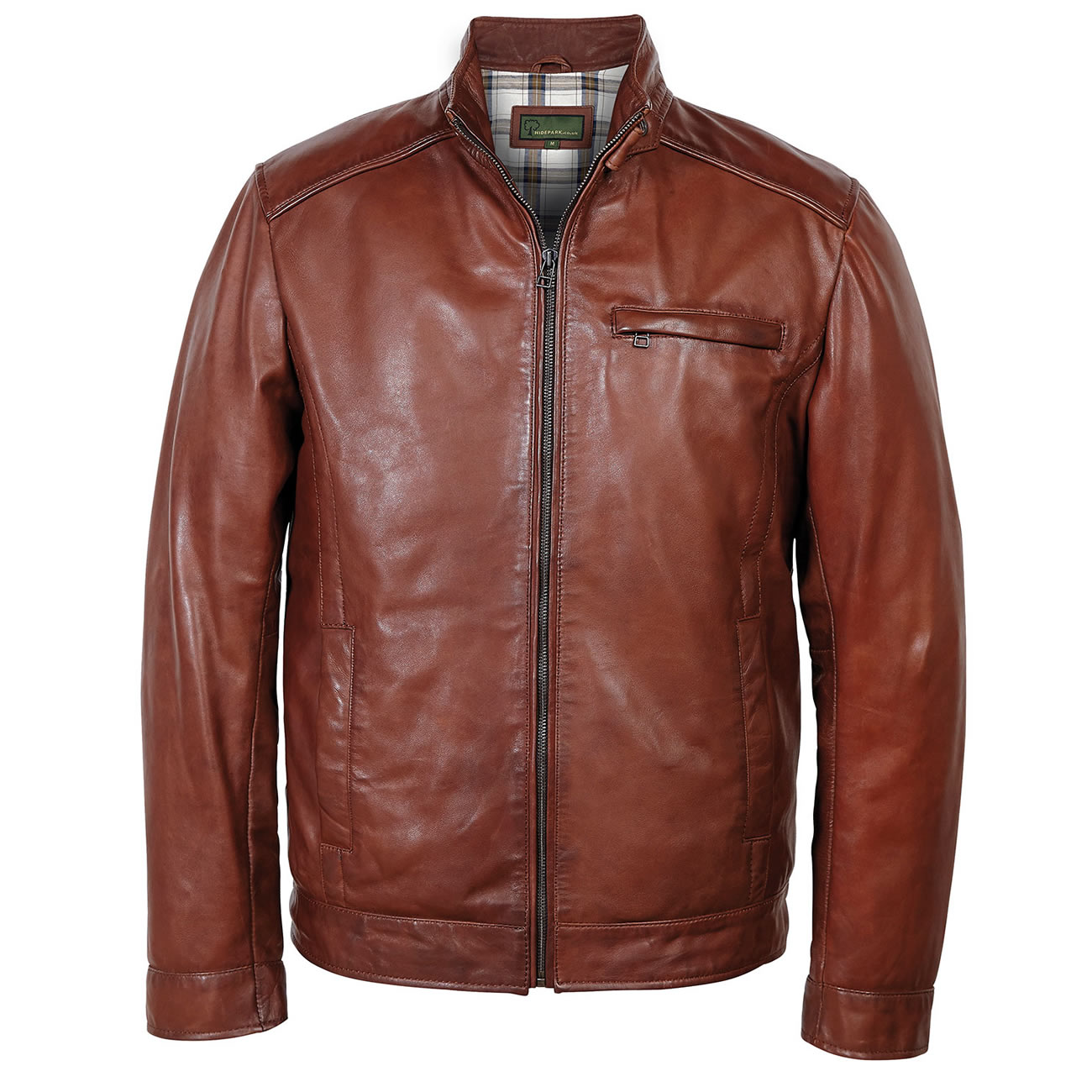 Gents Leather jacket chestnut Rik