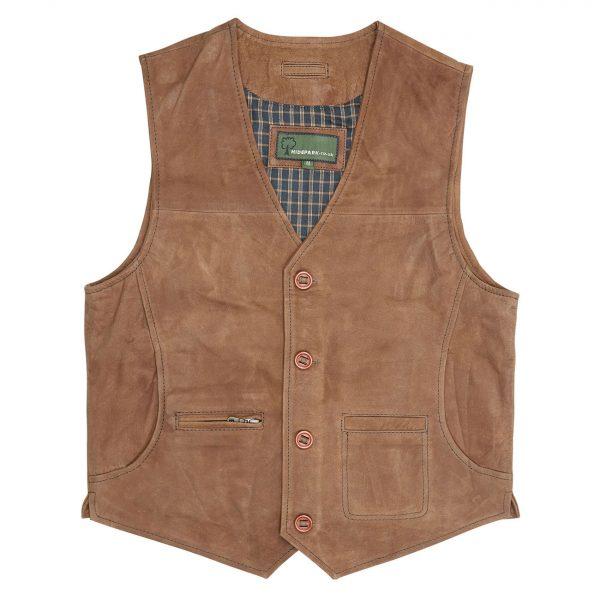 Gents-Leather-waistcoat-Tan-Rico
