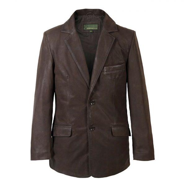 Gents-Nubuck-Leather-Blazer-Brown-728