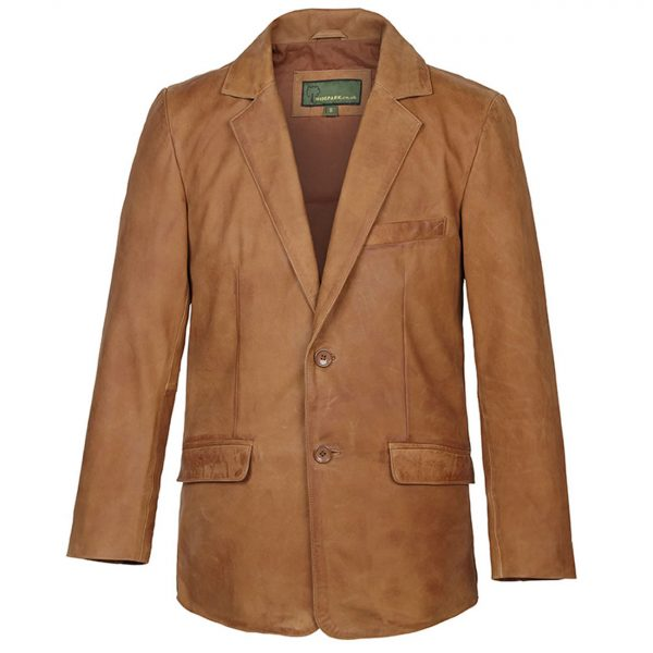 Gents-Nubuck-Leather-Blazer-Tan-728