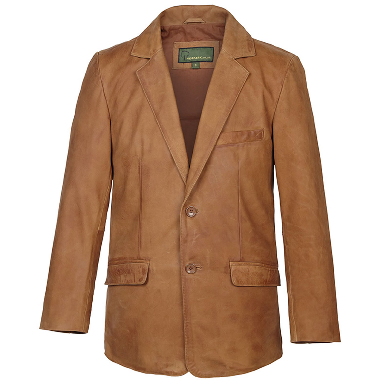 Gents Nubuck Leather Blazer Tan