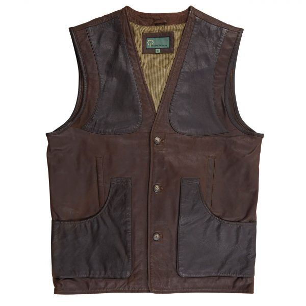 Gents-Shooting-Vest,-Brown-003