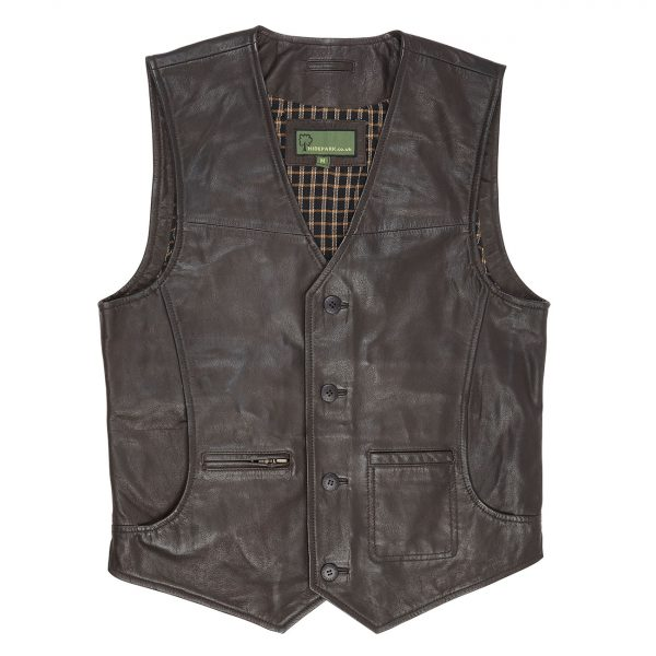 Gents-all-Leather-waistcoat-Brown-Rico