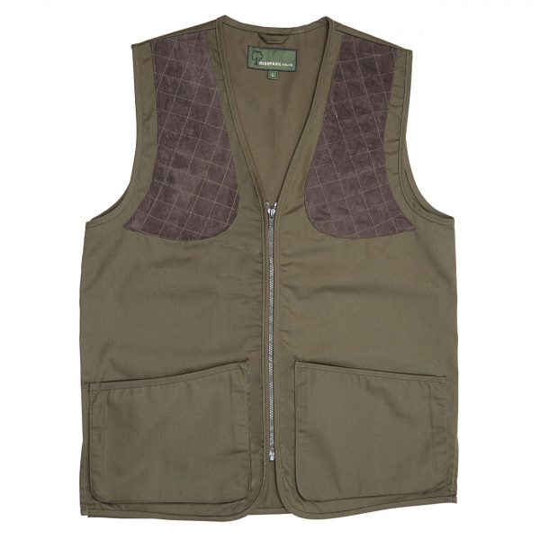 Gents-cotton-canvas-shooting-vest-Green-SV01