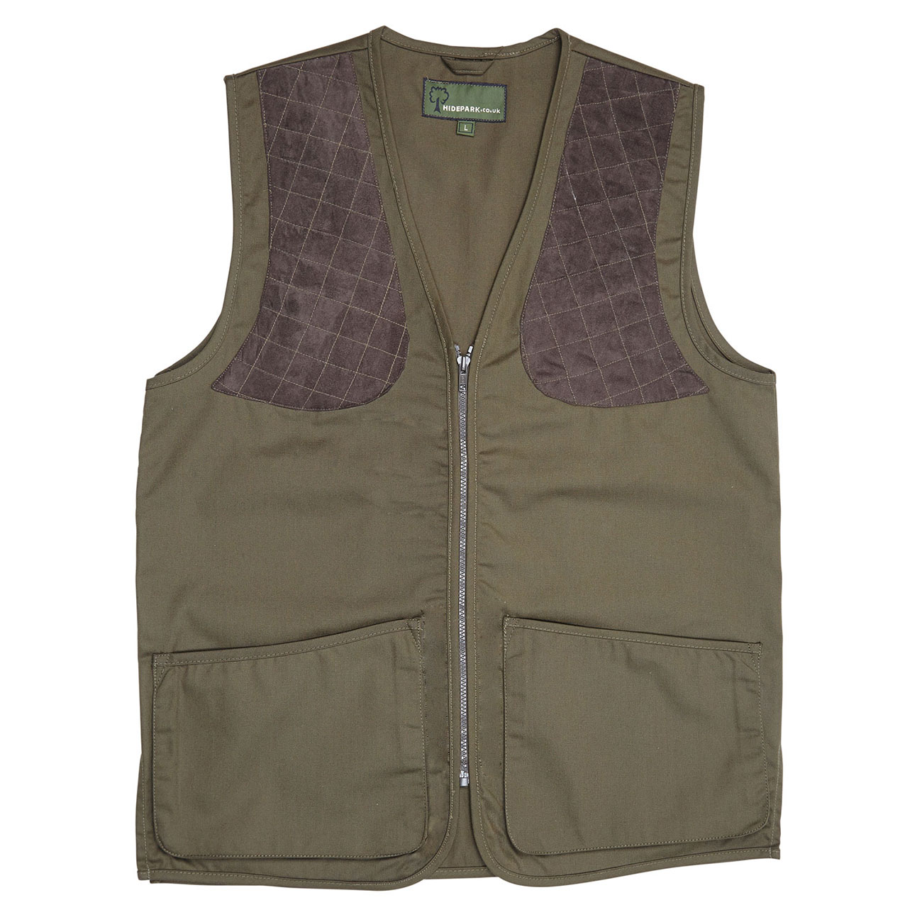 Gents cotton canvas shooting vest Green SV