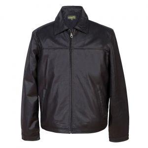 Gents leather jacket Black