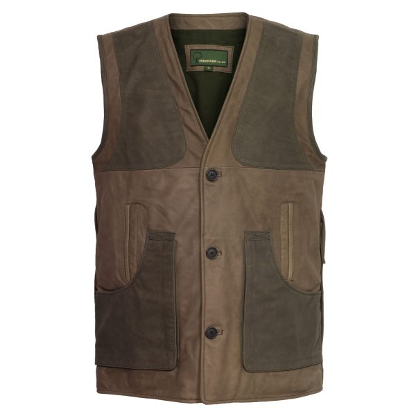 Gents mid-brown shooting vest 003