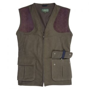 Gents moleskin Shooting Vest   Green