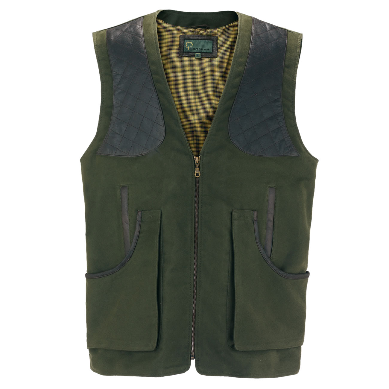 Gents moleskin shooting vest green M