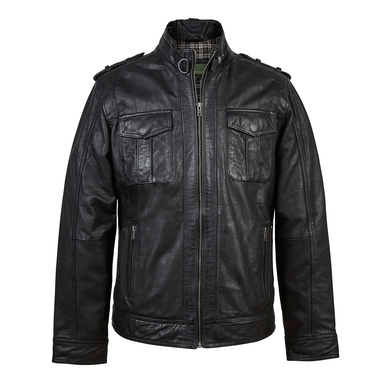 Jack: Black Mens Leather Jacket