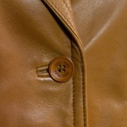 Jess Tan leadies leather blazer button detail