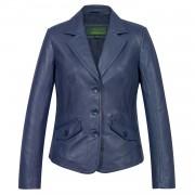 Ladies Blue leather Blazer Jess