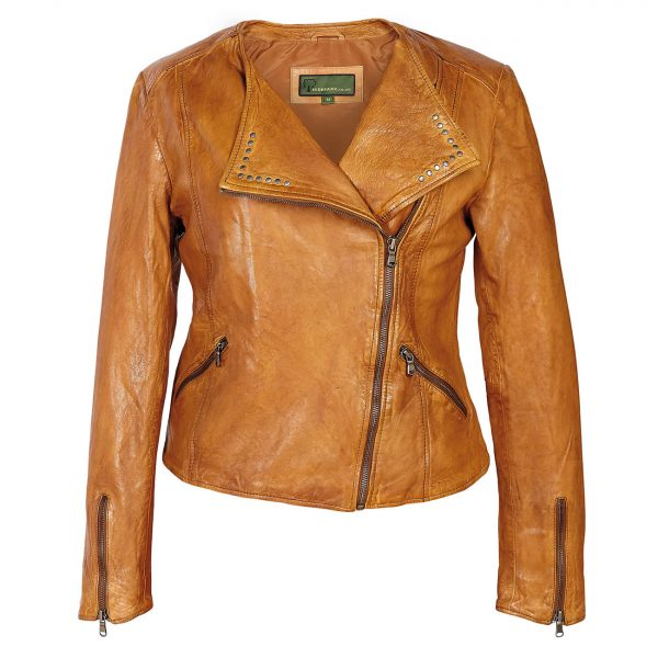 Ladies-Leather-Biker-Jacket-Tan-Sally
