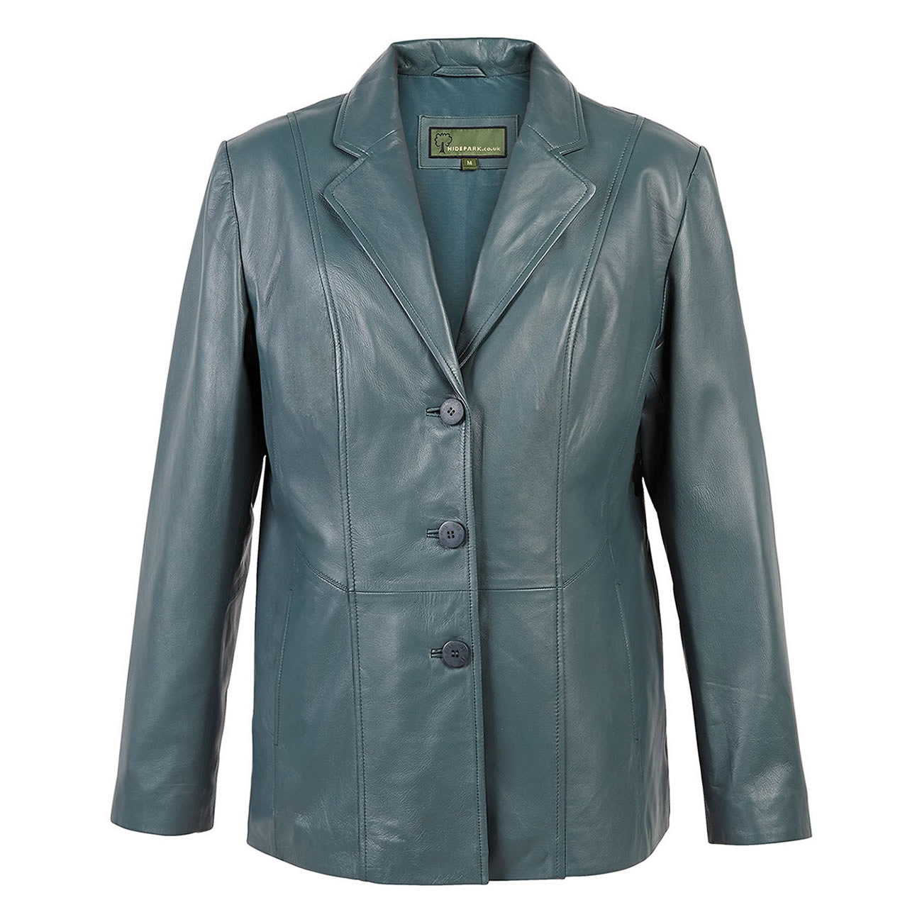 Ladies Leather Blazer Jolie Aqua