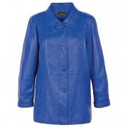 Blue Leather Coat