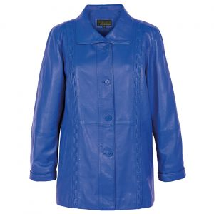Blue Leather Coat