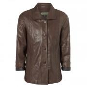 Ladies Leather Coat Brown Jenny