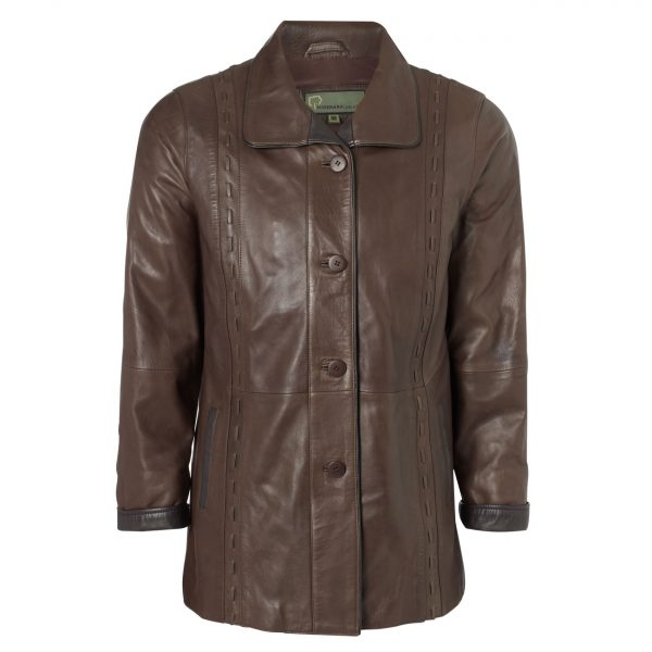 Ladies-Leather-Coat-Brown-Jenny