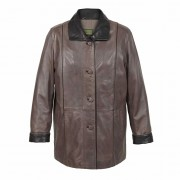 Ladies Leather Coat Mink Tara
