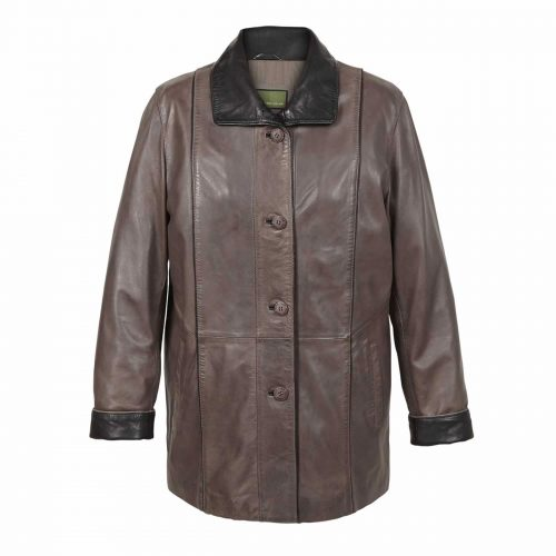 Ladies Leather Coat Mink Tara