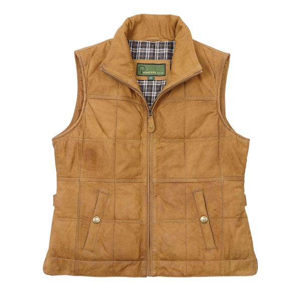 Ladies-Leather-Gilet-Pippa-Tan