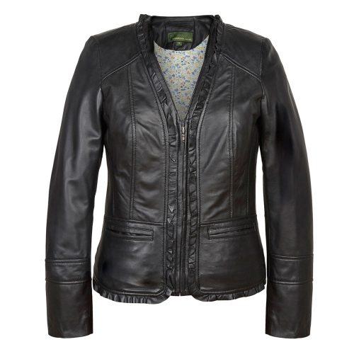 Ladies Leather Jacket Black Erin