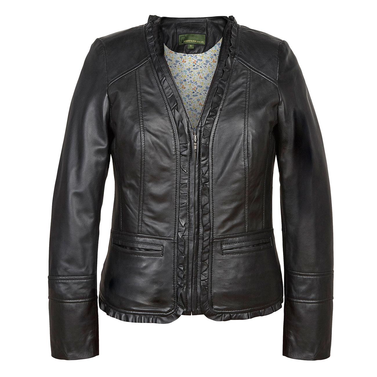 Ladies Leather Jacket Black Erin