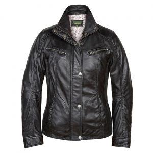 Ladies Leather Jacket Black Kelly