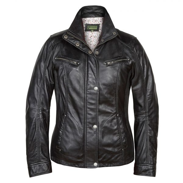 Ladies-Leather-Jacket-Black-Kelly