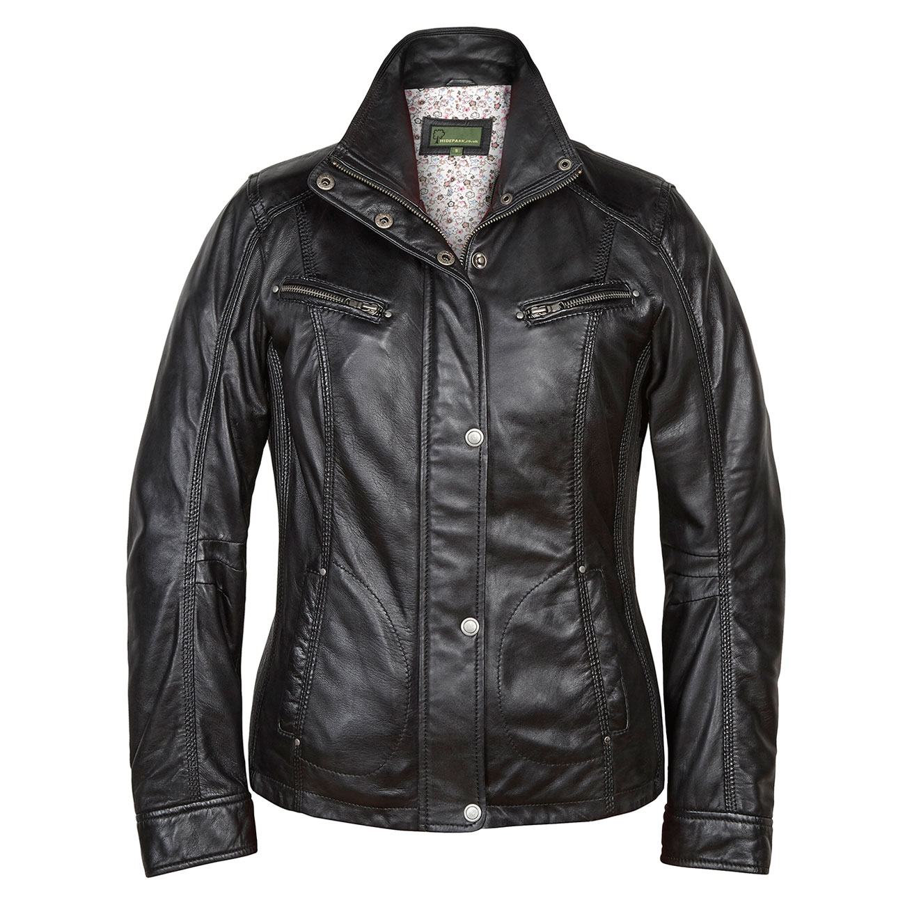Ladies Leather Jacket Black Kelly