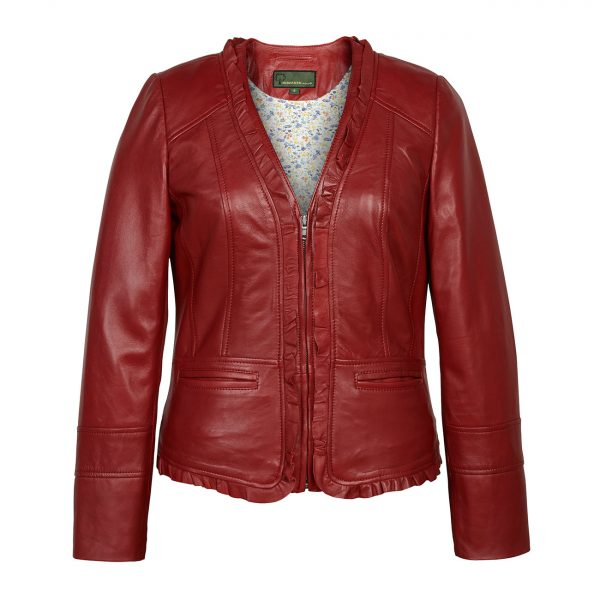 Ladies-Leather-Jacket-Red-Erin