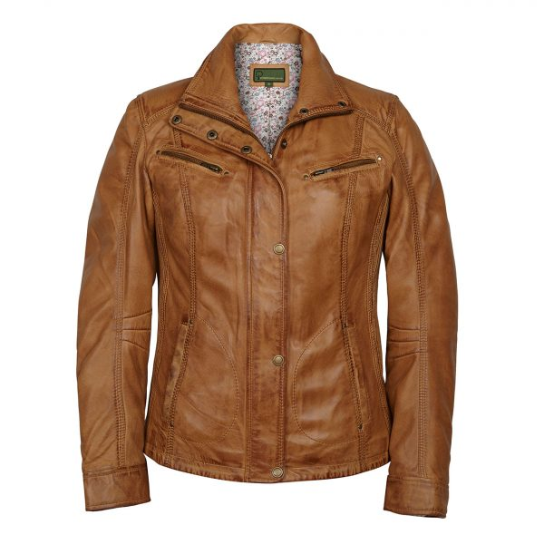 Ladies-Leather-Jacket-Tan-Kelly