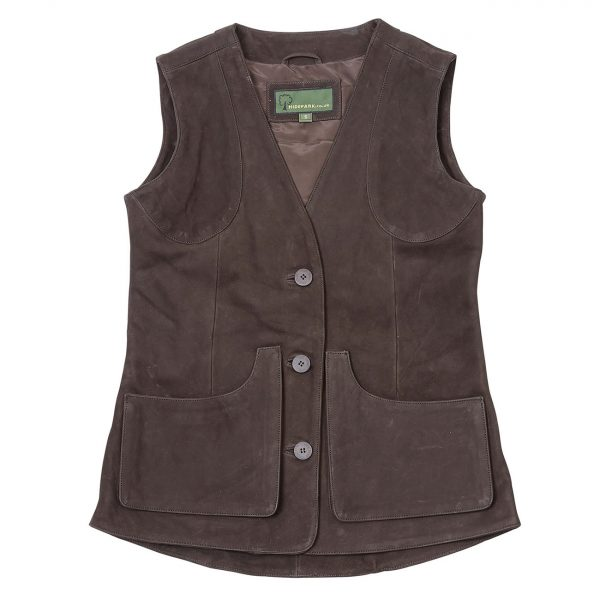 Ladies-Leather-Shooting-Vest-Brown-Lorna