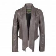 Women's Mink Waterfall Leather Jacket: Lily