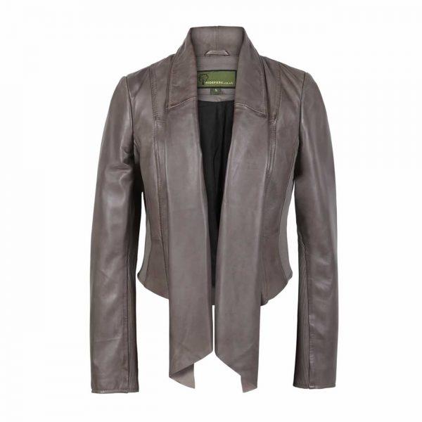 Women's Mink Waterfall Leather Jacket