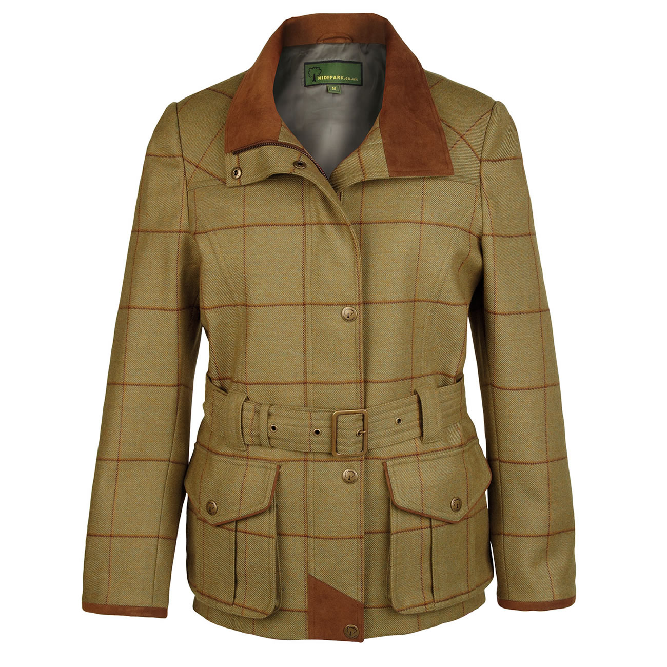 Ladies Tweed Coat Brown Green Harby