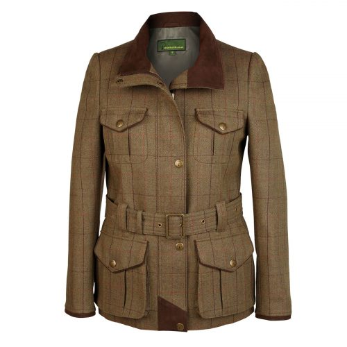 Ladies Tweed Coat welby Brown