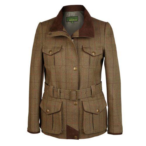 Ladies Tweed Coat welby Brown