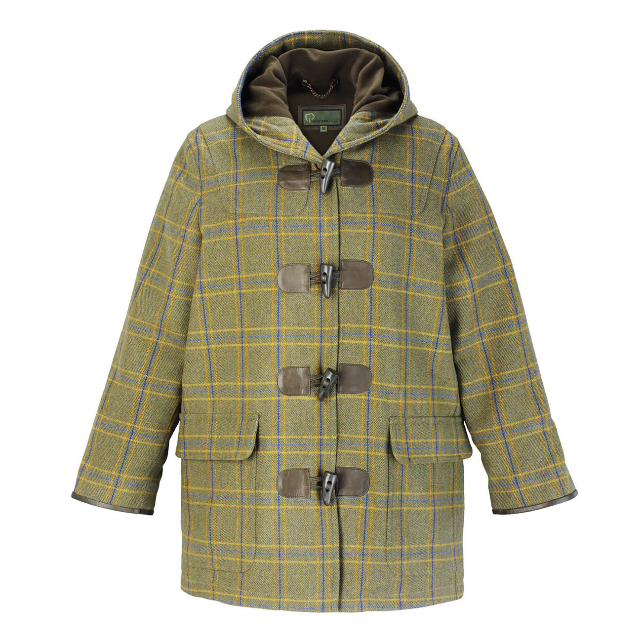 Ladies Tweed hooded duffle coat