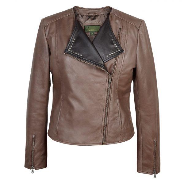 Ladies-biker-style-leather-jacket-mink-Sue
