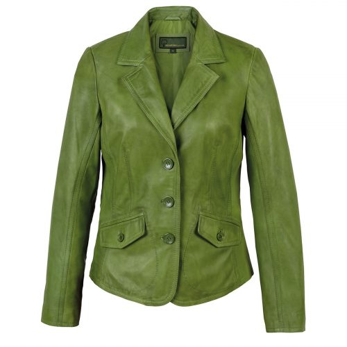 Ladies leather Blazer Green Jess