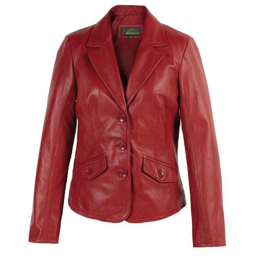 Ladies leather Blazer Red Jess