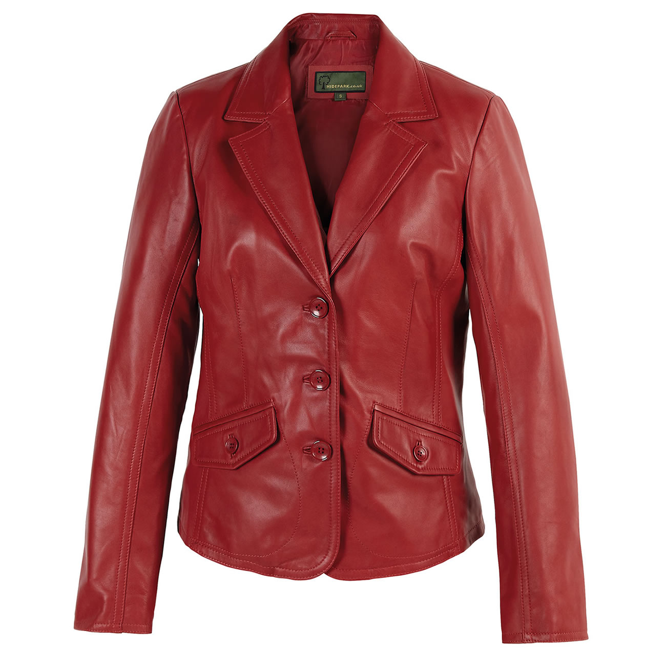 Ladies leather Blazer Red Jess