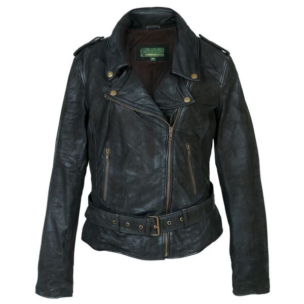 Ladies-leather-biker-jacket-Black-Zoe