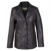 Ladies leather blazer Jolie Black
