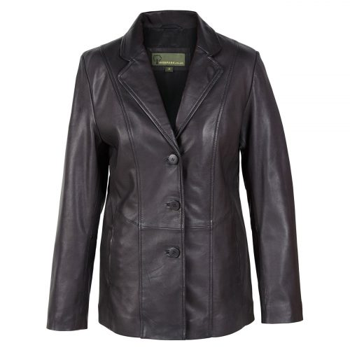 Ladies leather blazer Jolie Black