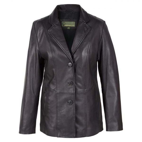 Ladies-leather-blazer-Jolie-Black