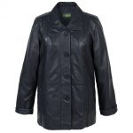 Ladies leather coat Navy Jenny