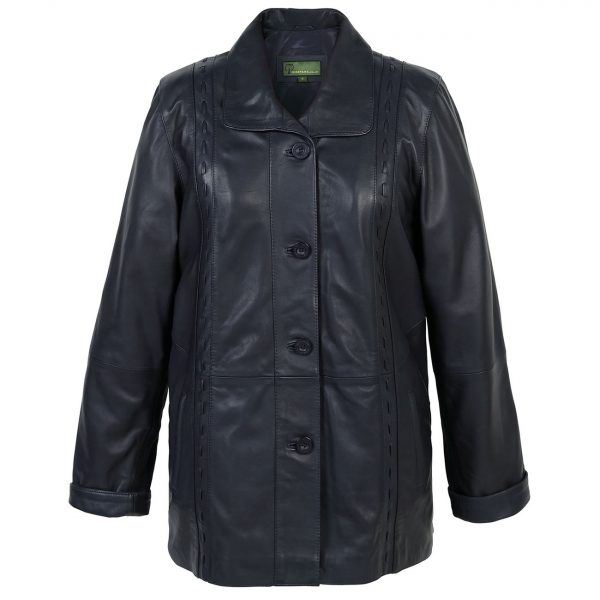 Ladies-leather-coat-Navy-Jenny