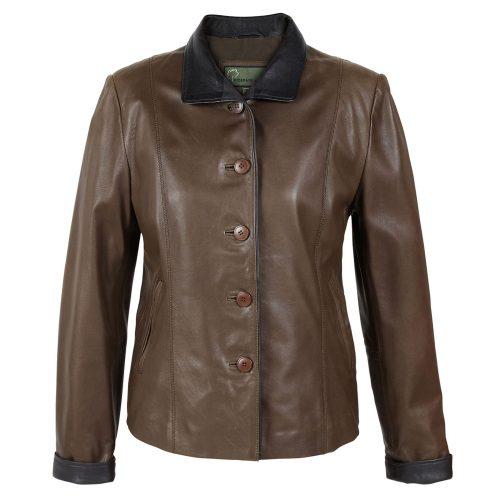 Ladies leather jacket Lulu Brown